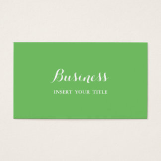 Mantis Minimalist Trendy Elegant Calligraphic Business Card