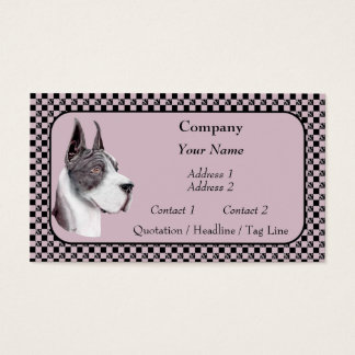 Mantle Great Dane Show Colors Business Cards