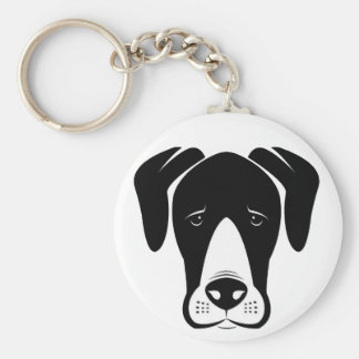 Mantle Great Danes Basic Round Button Key Ring