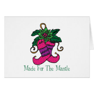 Mantle Stocking Greeting Cards