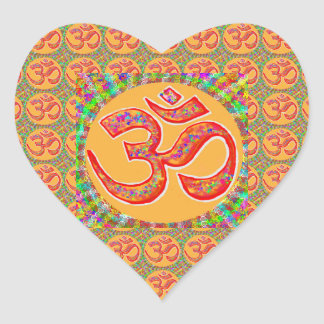 Mantra OmMantra : Perfect True Holy RobeColor Heart Sticker
