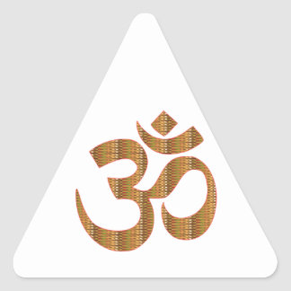 MANTRA OmMantra Yoga Meditation Chant Hinduism gif Triangle Sticker