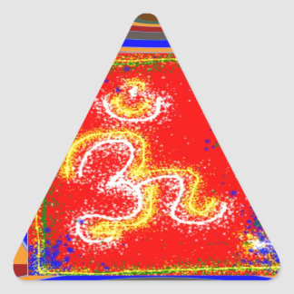 MANTRA Shakti: Passion Dedication Power Peace Triangle Sticker