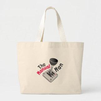 Manual Man Jumbo Tote Bag