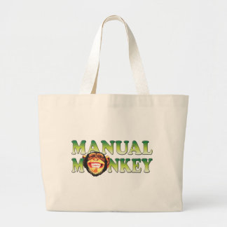 Manual Monkey Tote Bags