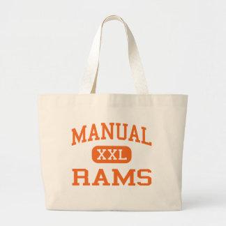 Manual - Rams - High School - Peoria Illinois Canvas Bag