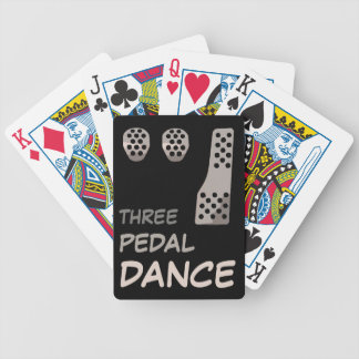 MANUAL Transmission - Three Pedal Dance Bicycle Playing Cards
