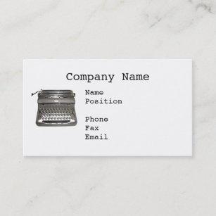 Old typewriter business cards zazzle uk manual typewriter business cards reheart Choice Image