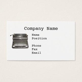 Manual Typewriter Business Cards