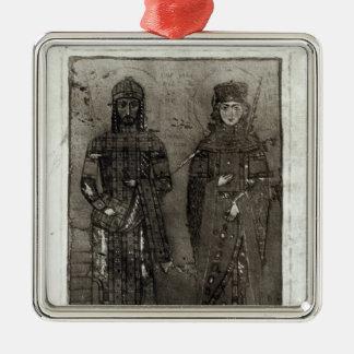 Manuel I Comnenus  and Empress Maria of Antioch Christmas Ornament