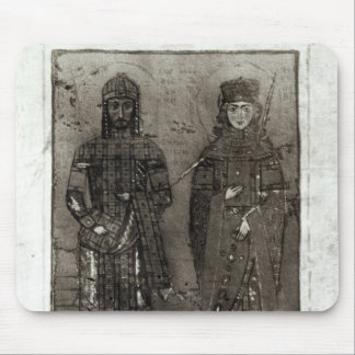 Manuel I Comnenus  and Empress Maria of Antioch Mouse Mat