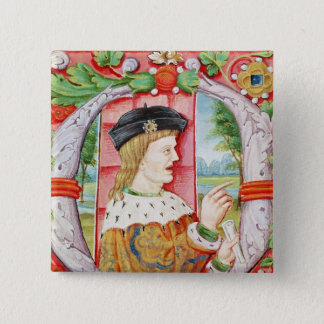 Manuel I  'The Fortunate', King of Portugal 15 Cm Square Badge