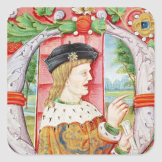Manuel I  'The Fortunate', King of Portugal Square Sticker