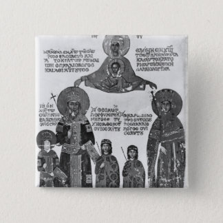 Manuel Palaeologus protected by Virgin Mary 15 Cm Square Badge
