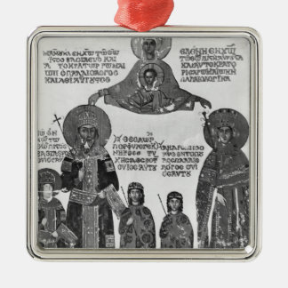 Manuel Palaeologus protected by Virgin Mary Christmas Ornament