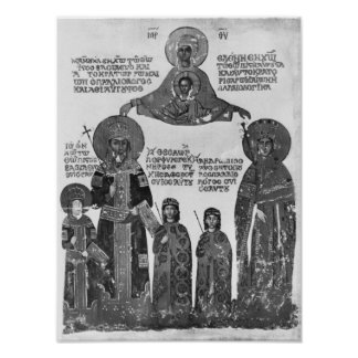 Manuel Palaeologus protected by Virgin Mary Poster