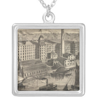 Manufactory of Clark's ONT Spool Cotton Silver Plated Necklace