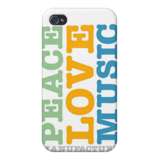 Manufacture Peace, Love, and Music iPhone 4/4S Case