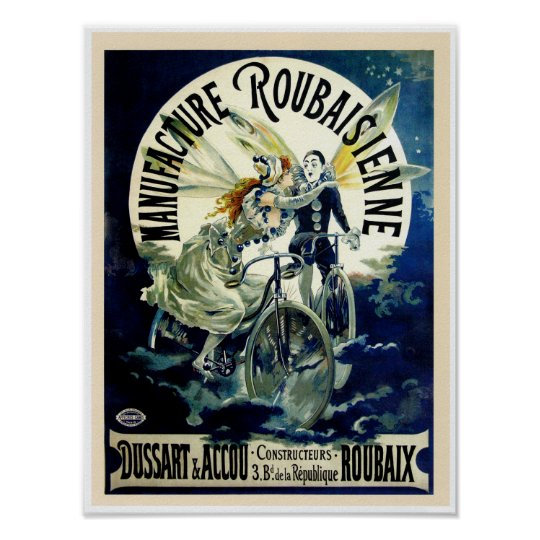 Manufacture Roubaisienne Bicycles Poster