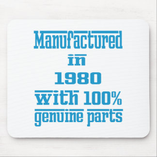 Manufactured in 1980 with 100% genuine parts mousepads
