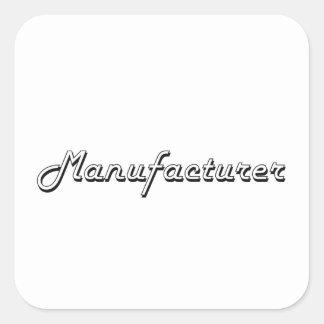Manufacturer Classic Job Design Square Sticker