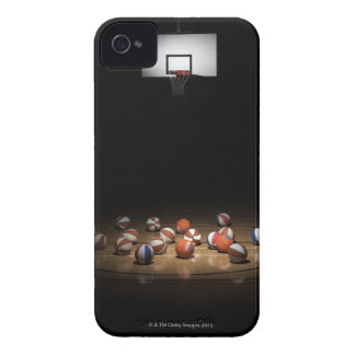 Many basketballs resting on the floor iPhone 4 Case-Mate case