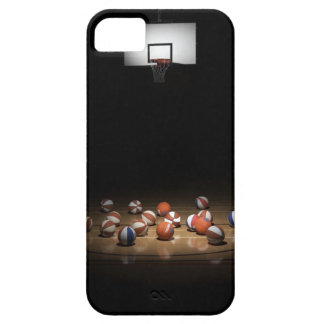 Many basketballs resting on the floor iPhone 5 case