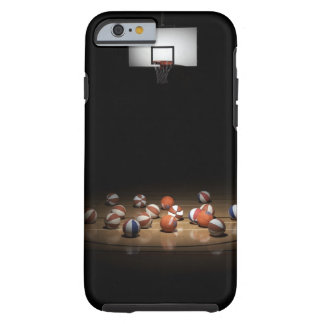 Many basketballs resting on the floor tough iPhone 6 case