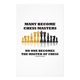 Many Become Chess Masters No One Becomes Master Stationery