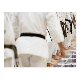 Many black belts postcard