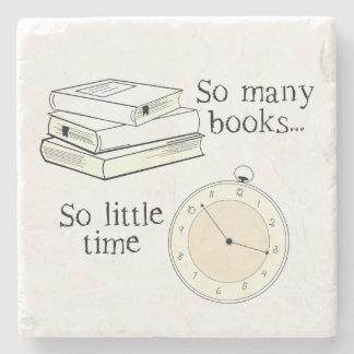 Many Books, Little Time Stone Beverage Coaster