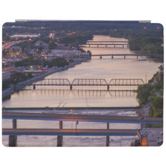 Many Bridges Span The Grand River, Sunset View iPad Cover