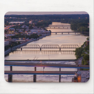 Many Bridges Span The Grand River, Sunset View Mouse Pad