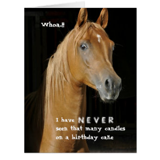 Many Candles Over the Hill Funny Horse Big Greeting Card