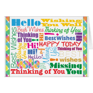 Many Caring Thoughts - Greeting Card