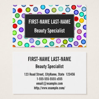Many Colorful Circles Business Card