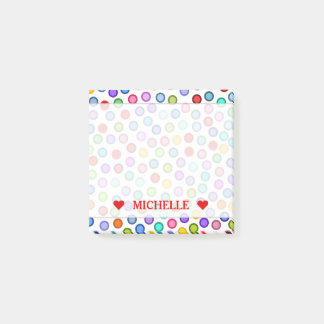 Many Colorful Circles & Custom Name Note