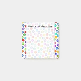 Many Colorful Circles + Custom Name Note