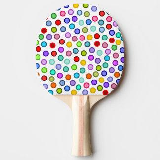 Many Colorful Circles Ping Pong Paddle