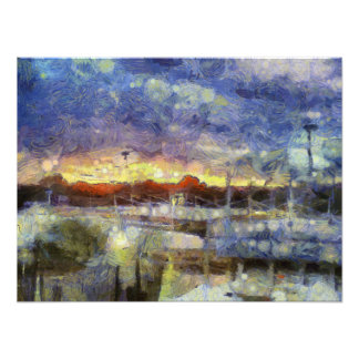 Many colors of sunset photo print