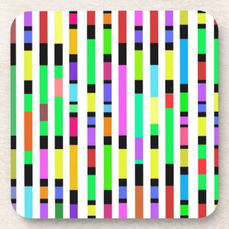 Many Colourful Stripes Drink Coasters