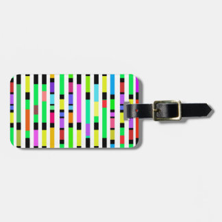 Many Colourful Stripes Tag For Luggage