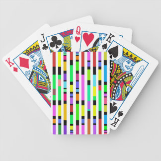 Many Colourful Stripes Playing Cards