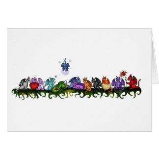 many cute Dragons Card
