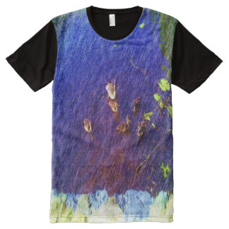 many duck swimming in a pond All-Over print T-Shirt