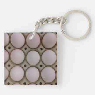 Many Eggs Double-Sided Square Acrylic Key Ring