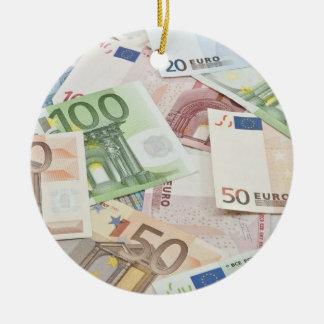 Many Euro banknotes Christmas Ornament