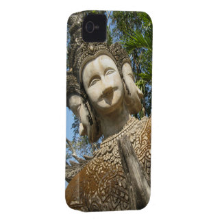 Many Face Wai ... Nong Khai, Isaan, Thailand iPhone 4 Case