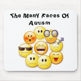 "Many Faces  ""Autism Speak"" Mouse Pad"