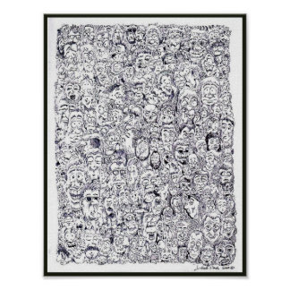 Many Faces Poster